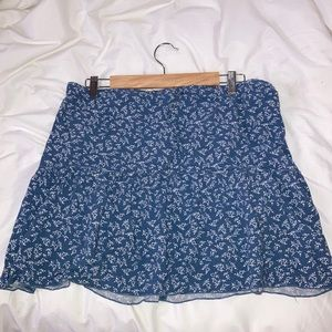Brandy Melville blue floral skirt